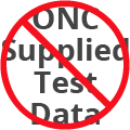 No ONC Supplied Test Data Icon