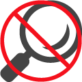No Visual Inspection Icon