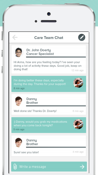 """Together's  """"Care Conversation"""" feature."""