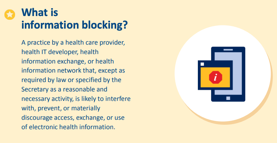 What is Information Blocking? Graphic.