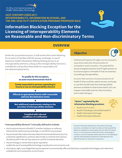 Permit the licensing of interoperability elements on reasonable and non-discriminatory terms. PDF. Click to download.
