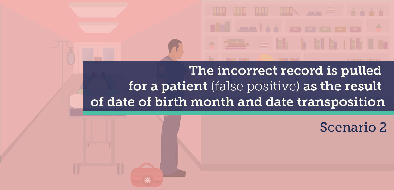 Video showing the dangers of getting the wrong patient record because of a wrong birthdate