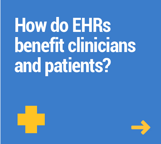 How do EHRs benefit clinicians and patients?