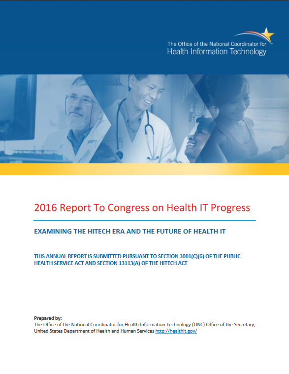 2016 Report to congress cover page