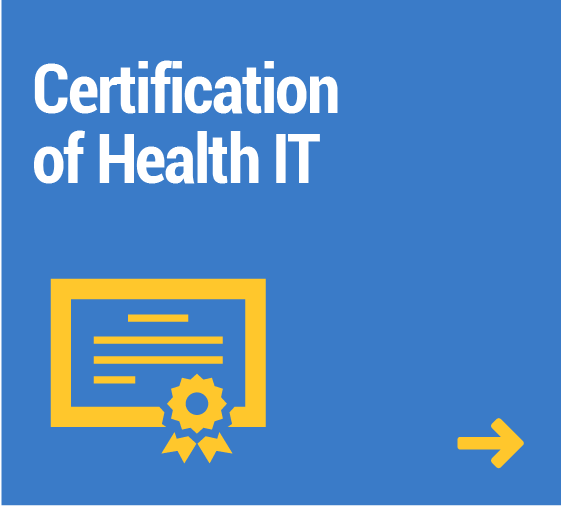 tile for certification of health IT