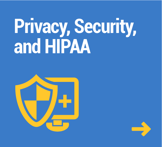 Privacy, Security, and HIPAA