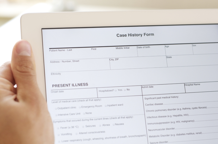 electronic case history form