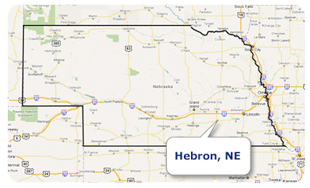 'Map oif Hebron, Nebraska