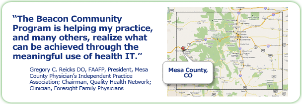 Map of Mesa County, Colorado and a quote from Michaela Faella