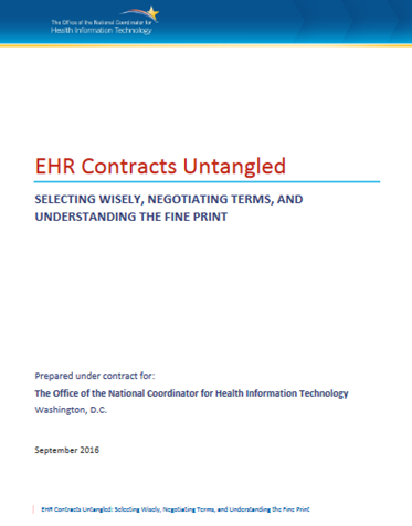 Image of EHR Contract Guide Cover