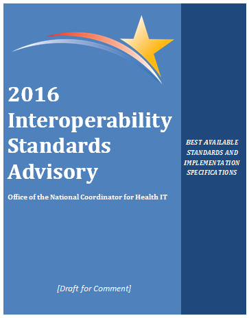 2016 interoperability standards advisory cover page