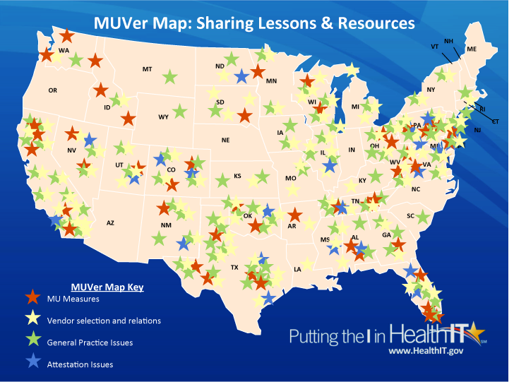 map of Regional Extension Centers across the United States