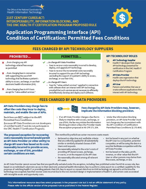 Application Programming Interface (API) Permitted Fees