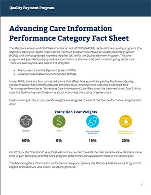 Advancing Care Information Fact Sheet