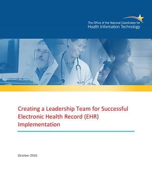 Creating a Leadership Team for Successful EHR Implementation cover