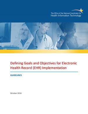 Defining Goals and Objectives for EHR Implementation cover