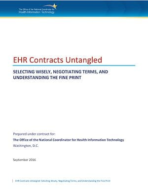 EHR Contract Guide cover