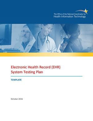 EHR System Testing Plan cover