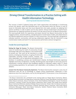 Driving Clinical Transformation in a Practice Setting cover