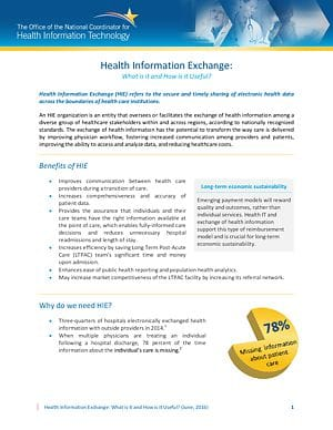 The Value Proposition of Health Information Exchange: LTPAC