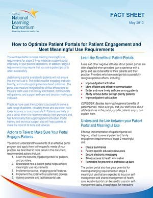 How to Optimize Patient Portals for Patient Engagement and Meet Meaningful Use Requirement