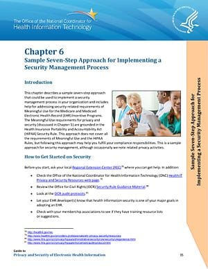 Sample Seven-Step Approach for Implementing a Security Management Process