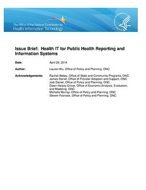 Public Health Issue Brief