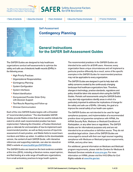 Contingency Planning. PDF. Click to download.