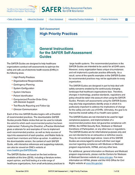 High Priority Practices. PDF. Click to download.