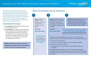 TOC Measures in the Stage 2 Summary of Care Objective