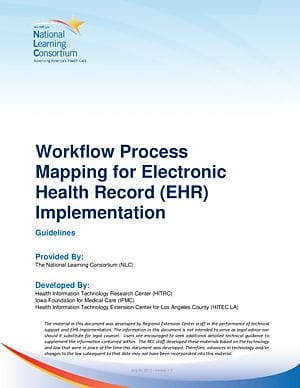 Workflow Redesign Templates for EHR Implementation cover