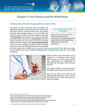 Your Practice and the HIPAA Rules
