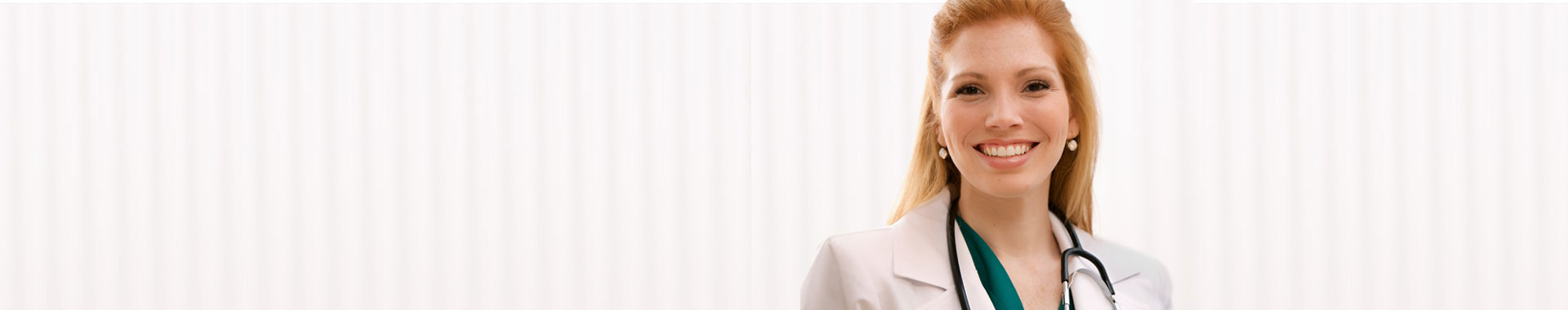 Woman doctor in a lab coat