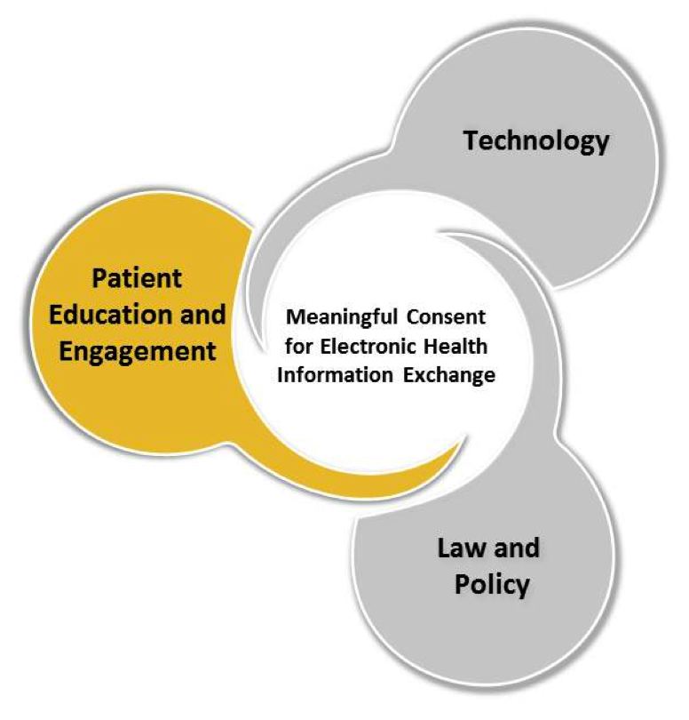 'Patient Education and Engagement' in speech bubble