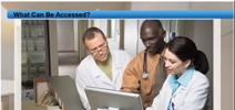 Doctors with patients